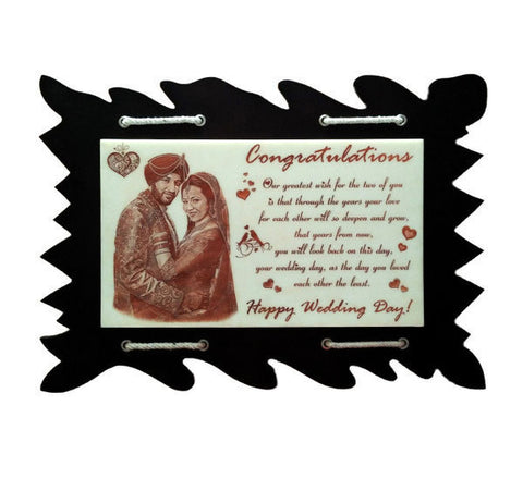 Personalized wooden plaques in Hyderabad | Valentines day Gift | Engraved with photos and text