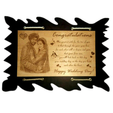 Stylish Happy Anniversary Personalised Plaque at Best Prices in India