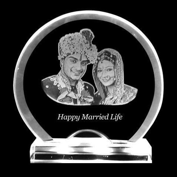 Transform your memory into a beautiful 2D laser engraved photo crystal gift by adding text, a poem, or special date or message for your loved ones. Turn Your memories into 2D engraved Crystal. Our customized 2D Photo engraved crystal paperweight is a cute and personalized gift of simple, understated and thoughtful taste.