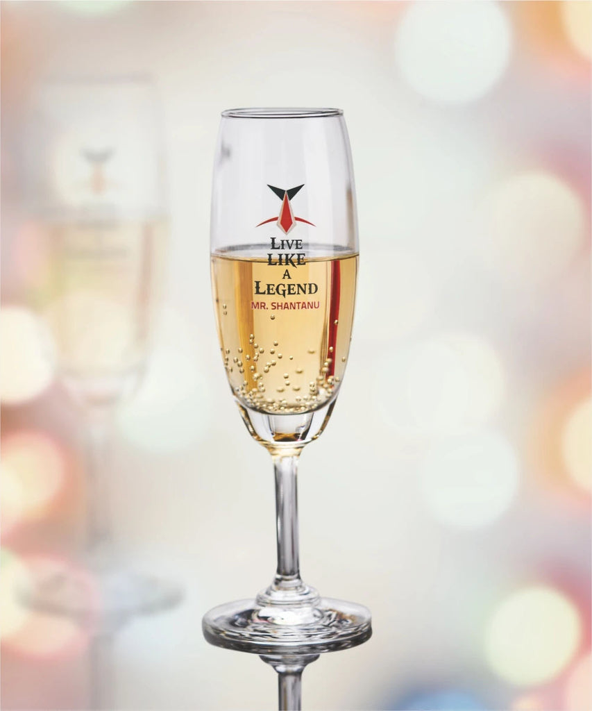 Champagne Glasses | Personalised Champagne Glasses online in India at Zestpics