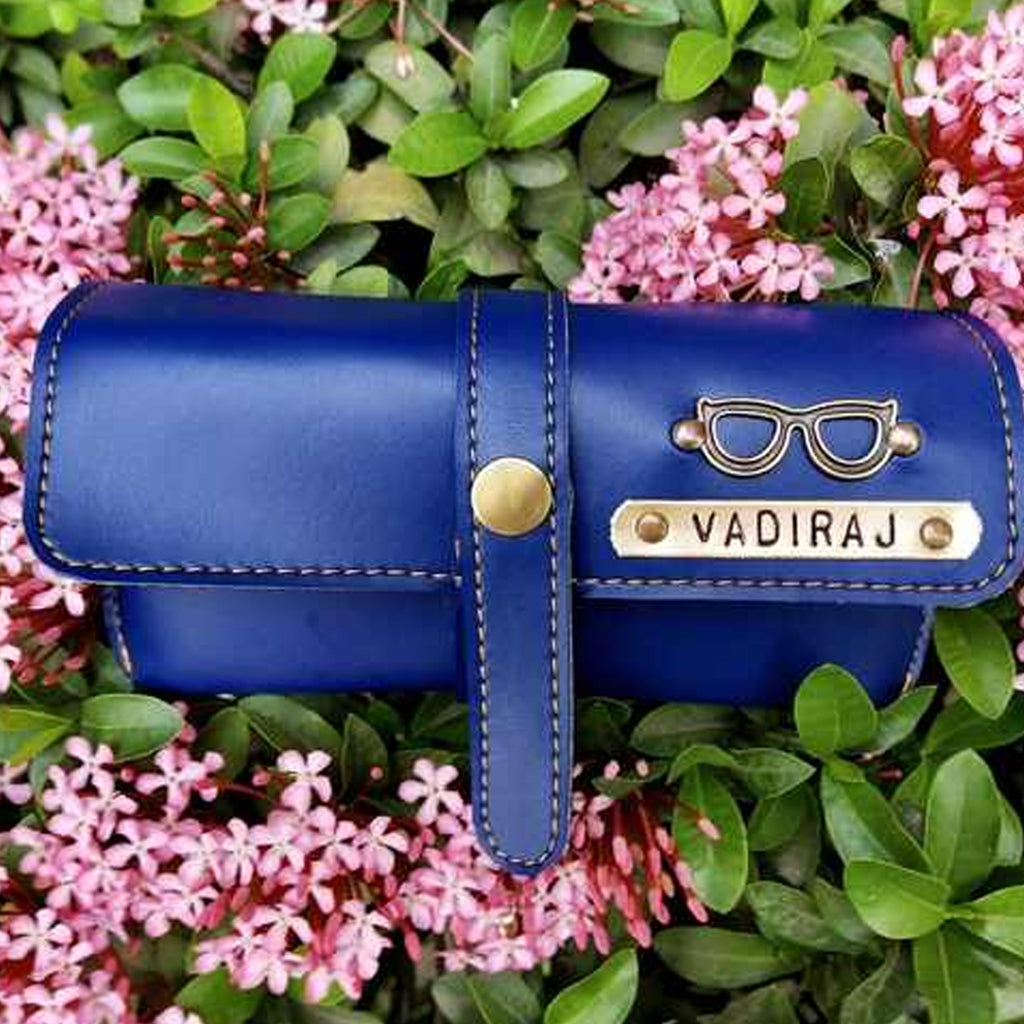 Buy Personalised Leather Eyewear Case online in India | Zestpics