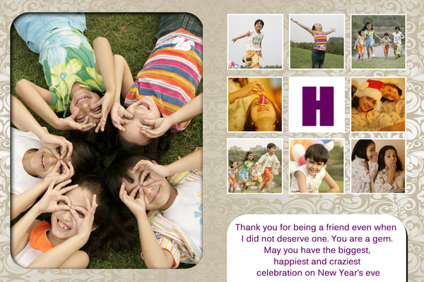Personalized Photo New Year Greeting Cards - Zestpics, Hyderabad, India