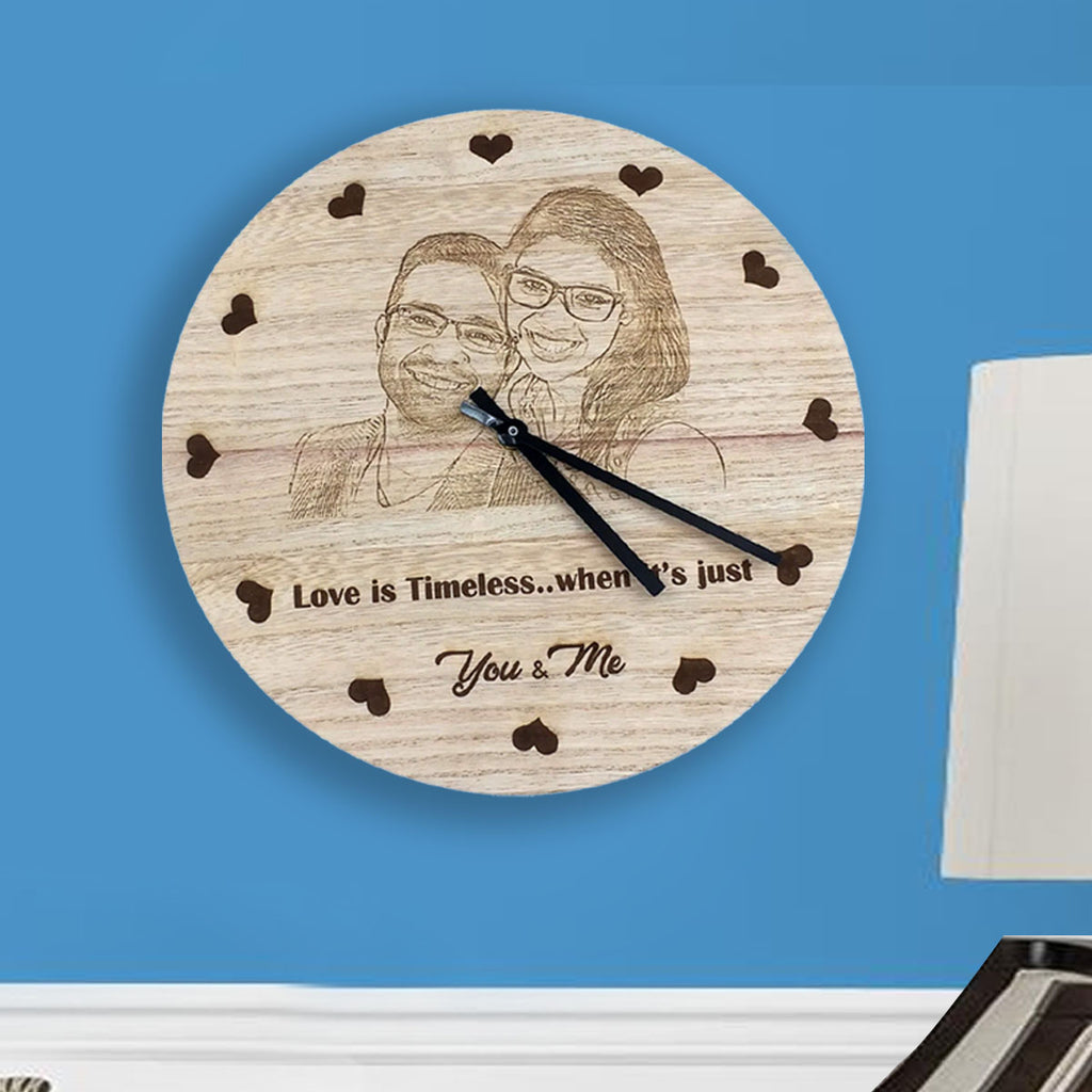 Photo Clocks | Photo Wall Clocks | Round Engraved Wall Clock |Zestpics