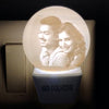 3D Moon Plug | Personalised Moon Bed Lamp | Personalised Couple Moonlight Bed Lamp
