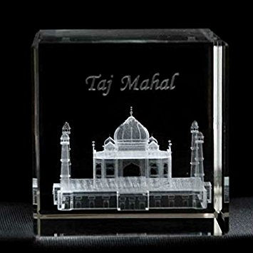 Buy or Send Taj Mahal 3D Crystal Monuments online in India at Zestpics