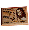 Personalized Engraved Wooden Photo Plaque - Zestpics, India