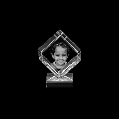 Buy Personalized Photo 3D Crystal Cubes online at Zestpics, India