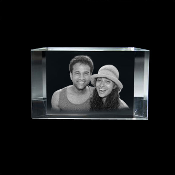 Get your chosen picture laser etched into a crystal for a truly unique and personalised anniversary, wedding, farewell or birthday gift. Choose a 2D photo crystal gift that's perfect for you or a loved one from our range of keyrings, photo cubes, crystal frames and more. Customized Photo Crystals with your Photo Laser Engraved in it.