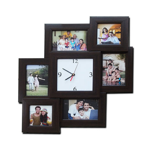 6 Photos 4x6 Clock Frame-Collage Frames-Zestpics