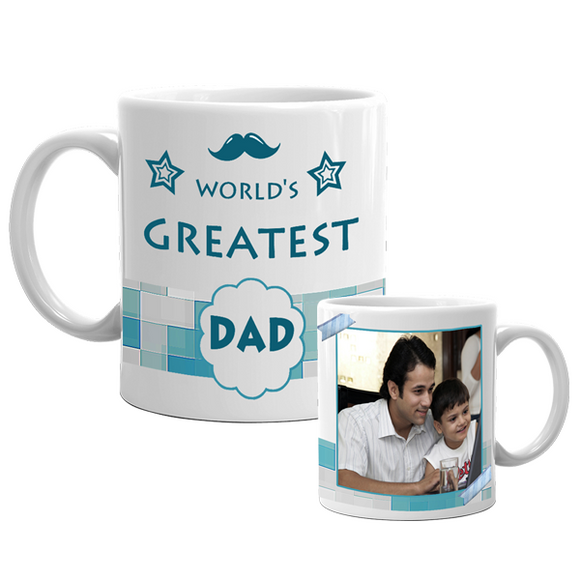World Greatest Dad Mug | Dad Mugs | Father's Day Gifts at Zestpics, India