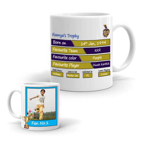 Buy & Send Kolkata Knight Riders Coffee Mug for IPL Team to India|Zestpics