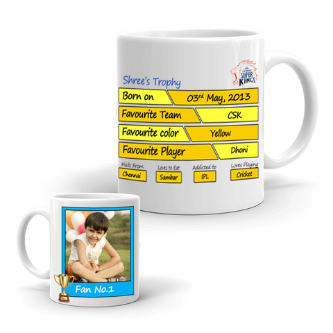 Buy & Send Chennai Super Kings Coffee Mug for IPL Team to India|Zestpics