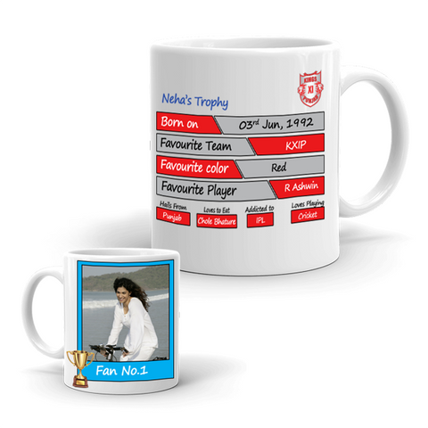 Buy & Send Kings XI Punjab Coffee Mug for IPL Team to India|Zestpics