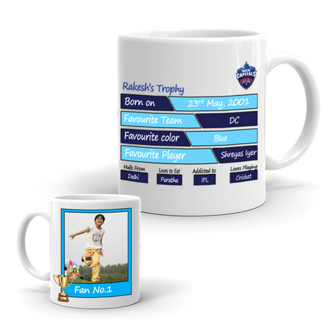 Buy & Send Delhi Capitals Coffee Mug for IPL Team to India|Zestpics