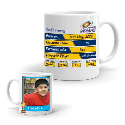 Buy & Send Mumbai Indians Coffee Mug for IPL Team to India|Zestpics