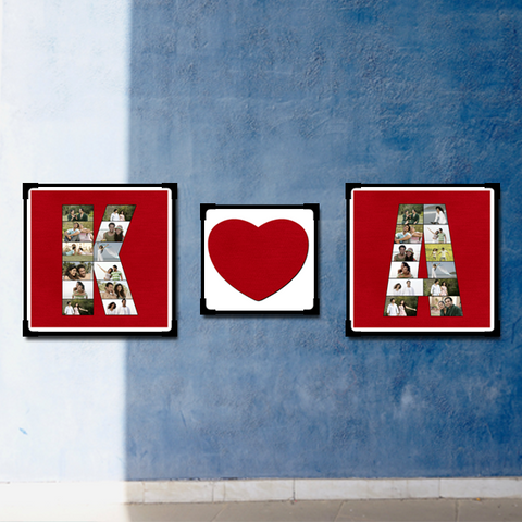 Alphabet Photo Collage with Love | Alphabet Collage | Alphabet Frame