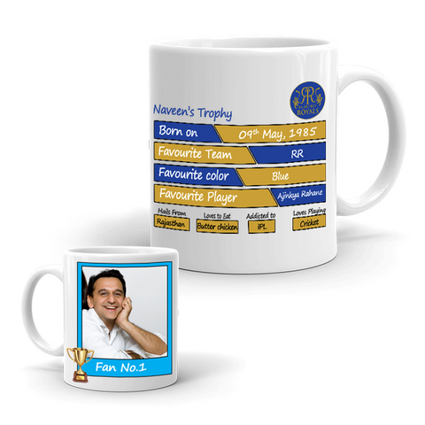 Buy & Send Rajasthan Royals Coffee Mug for IPL Team to India|Zestpics