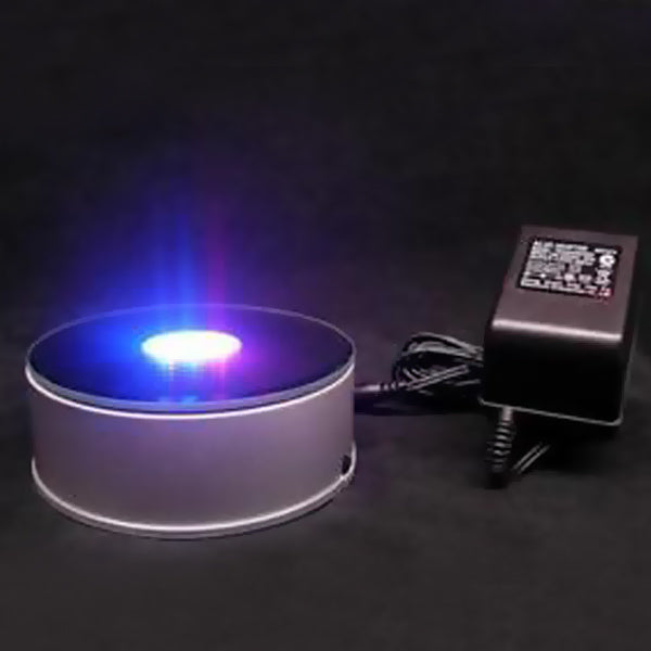 Led Rotating Light Base, Multi Colored LED Light Base for Photo Crystals