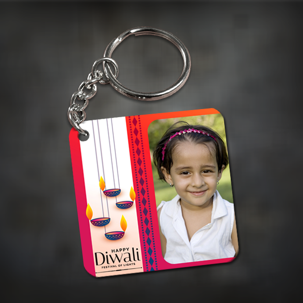 Buy & Send Personalized Photo Diwali Gifts - Keychains online in India