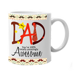 Make their mornings better with one of our personalised mugs. Add a dad photo, customise with a dad name.