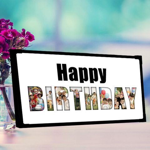Happy birthday photo frame|Birthday photo frame collage|Happy birthday gift