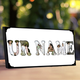 Create your very own personalized Name Frame. A picture frame that can be used as a name plaque or designed so you can put photos behind each letter. Name Photo Frame. Frame The Name.