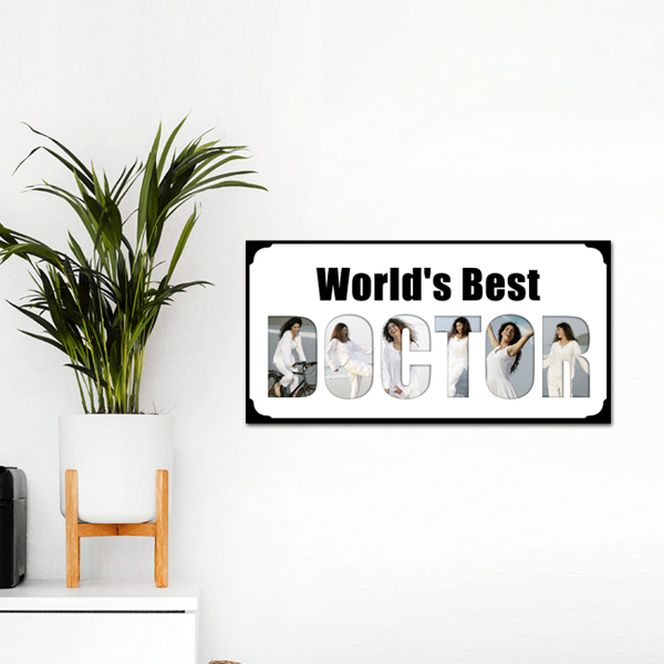 World's Best Doctor Photo Frame | Personalized Doctor Gifts | Zestpics