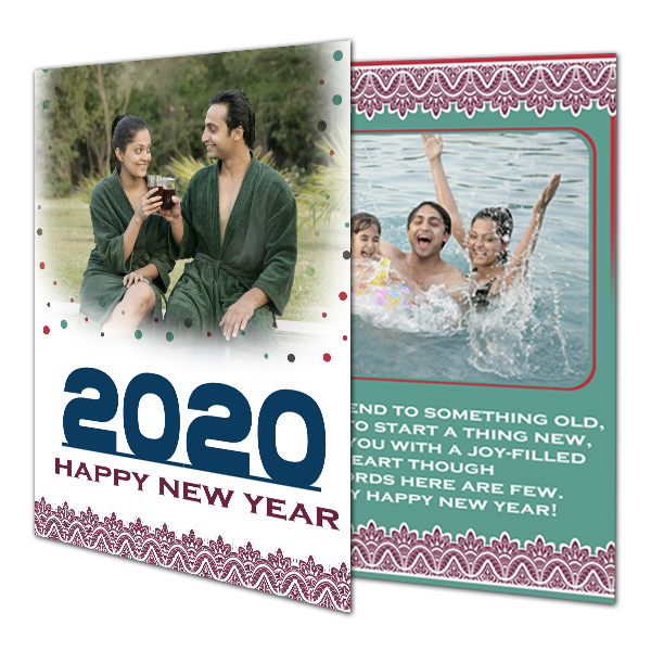 Happy New Year 2020 Greeting Cards|Custom New Year Cards|Personalized Cards