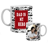 Buy Online Dad is my Hero Mug, My Father is my Hero Mug, My Hero Dad Mug