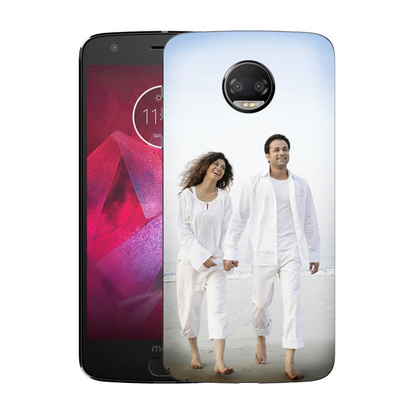 Buy Personalized Moto Z2 Force Mobile Back Covers/Cases. Design your own Customized Mobile Case for Moto Z2 Force with your own Photos, Text online & Make it Unique. Customize Now! Buy Custom Printed Personalized Mobile Covers/ Skins in India at Zestpics. Mobile Skins, Customized Mobile Phone Skins online in India.