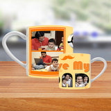 Gift Customized Tea Cups with Zestpics. The premium quality tea cups can be customized with photos, messages and are a beautiful gift idea