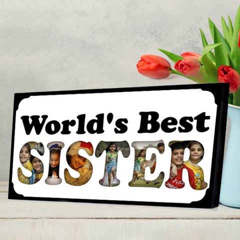 World's Best Sister Photo Frame, Send Rakhi Gifts to Sister Online in India