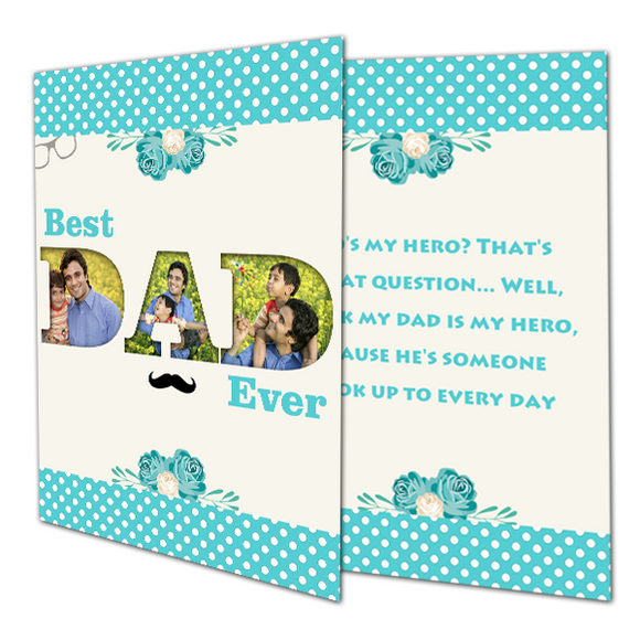 Buy/ Send Best Dad Ever Greeting Card, Father's Day Greeting Cards Online in India
