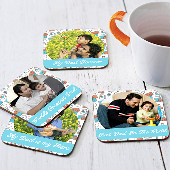 Personalized Coaster | Dad Coasters | Photo Coasters | Custom Tea Coasters