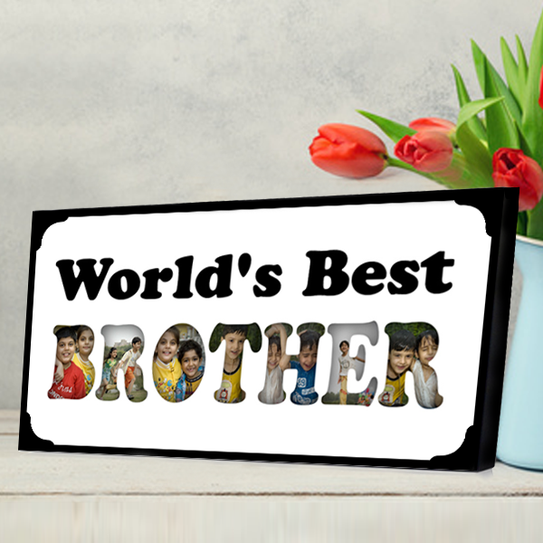 World's Best Brother Photo Frame, Rakhi Gifts for Brother - Zestpics