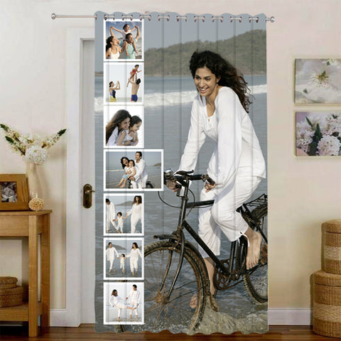 Buy Personalized Door Curtains|Custom Door Curtains Online at Zestpics, India