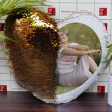 Heart Gold Color Magic Pillow online|Sequin Pillow|Zestpics