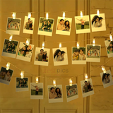 Polaroid Prints with LED Photo Clips | Zestpics |  polaroid hanging clips, photo string, photo clips, polaroid hanging, polaroid display frame, polaroid string lights