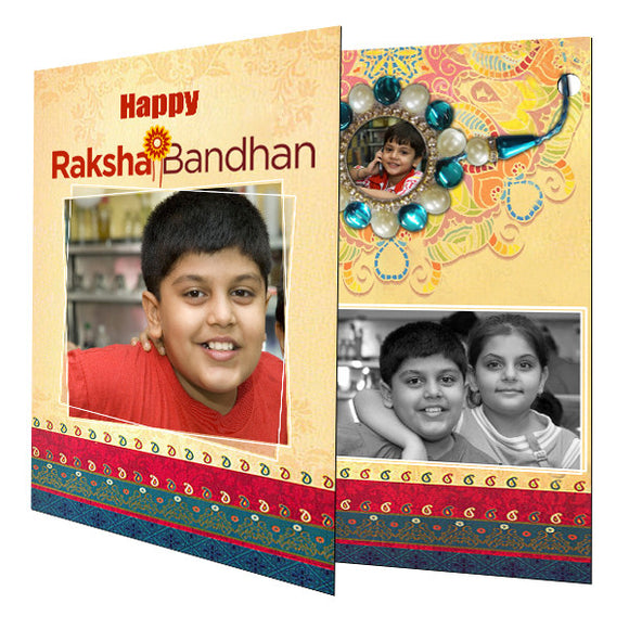 Personalized Rakhi Greeting Card with Photo Rakhi