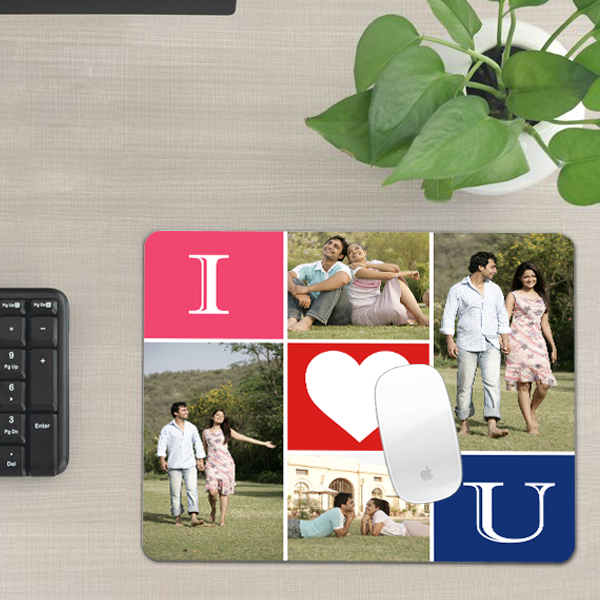 Personalized Love Mouse Pad, Valentine Gifts, Custom Mouse Pads - Zestpics