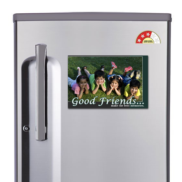 Buy/ Send Persoanlised Photo Good Friends Magnet Gifts Online in India