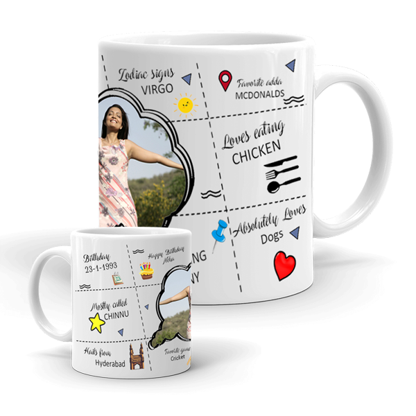 Happy Bio Mug | Happy Mug | All About You Mug | Send to India