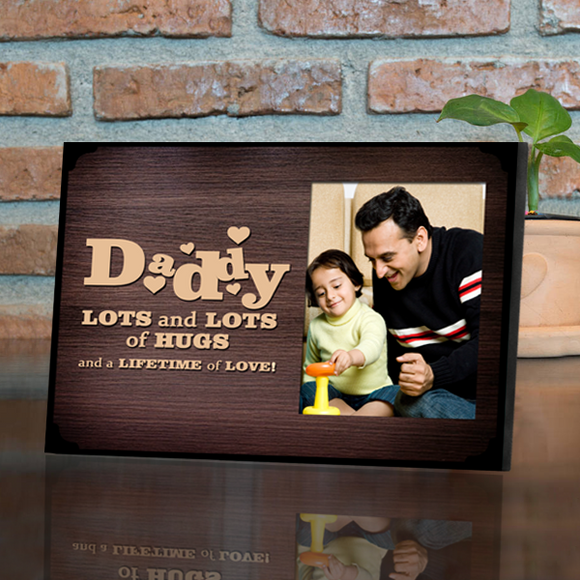 Buy Personalized Father's Day Photo Frames, Daddy Frame Online at Zestpics