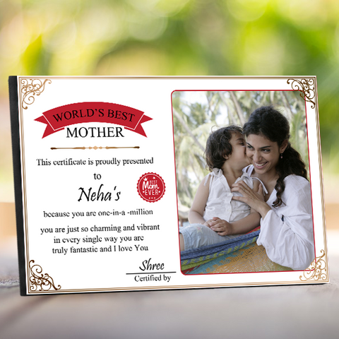 World's Best Mother Certificate, Mother Certificate of Appreciation|Zestpics