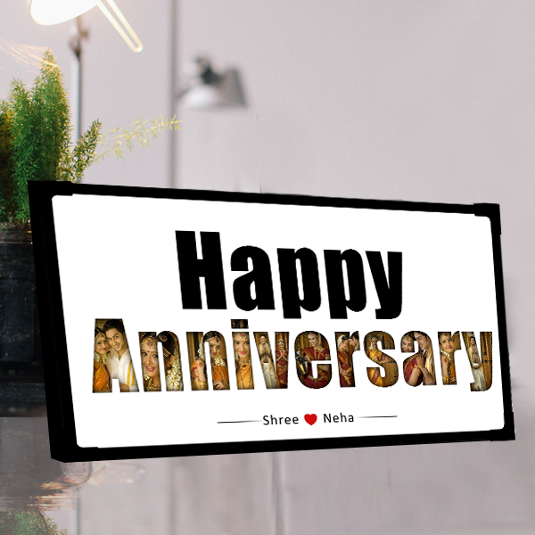 Buy/ Send Personalized Happy Anniversary Photo Frame online in India | Zestpics