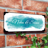 Blue Water Color Name Plate