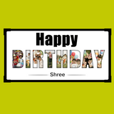 Buy Birthday Themed Personalized Photo Frame online at best price Zestpics. Gift/Send Birthday Themed Personalized Photo Frame online