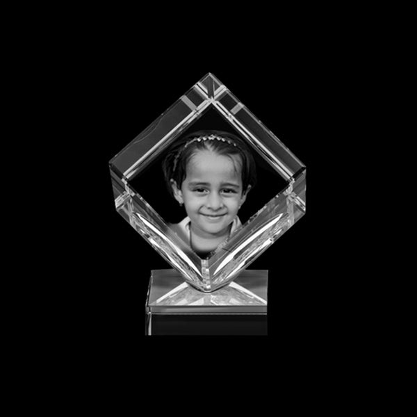 6x6x6 Cube 2D Crystal, 2D Crystal | Custom Photo  2D Crystal | Personalised photo 2D Crystal India