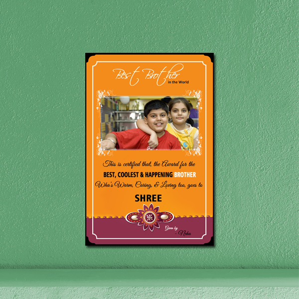 Raksha Bandhan Photo Frame|Rakhi Photo Frame|Personalized Rakhi Gifts for Brothers