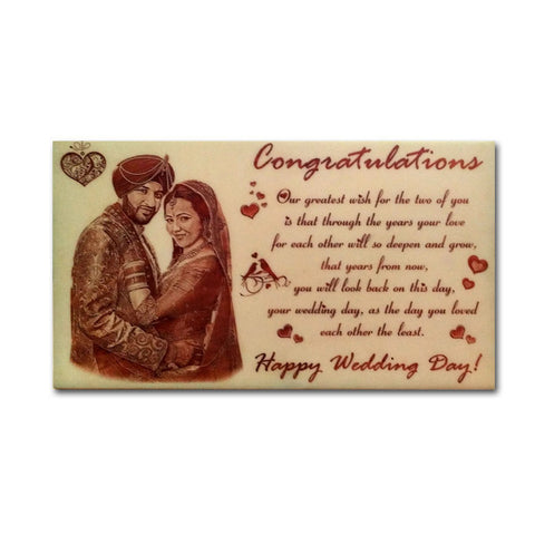 Personalized wooden photo plaques in Delhi. Engrave your pictures on wood. Quick delivery.
